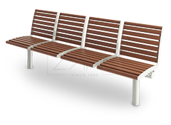 Functional bus station seating with separate seating places