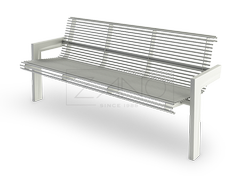 modern bench made of steel tubes