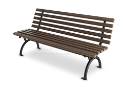 Metal park bench- comfortable model with classic design