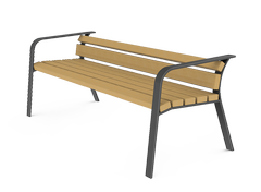 02.093.1 is a cheap and modern style model of the metal benches