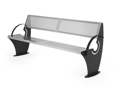 Stainless steel bench is a durable and corrosion resistant street furniture model