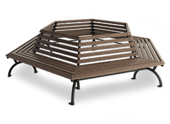 Octagonal bench around tree- origianl decoration for every landscape