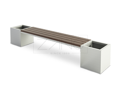 02.026 is a modern bench wit planters- best quality materials