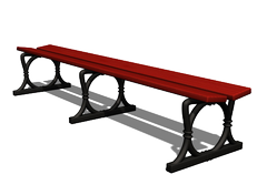 long bench without backrest