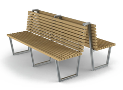 moder stainless steel benches