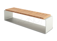 Clipo is a modern and simple wooden bench based on stainless steel construction