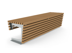 Flash is a modular bench without back- perfect for the shopping malls.