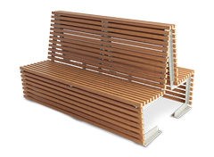 Modular benches from the `flash line- double sided versions
