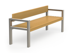 Latis is a modern bench made of stainles steel- perfect for shopping centres