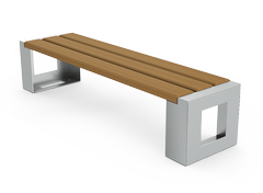 Modern and elegant bench without back- perfect for bus stations and main squares