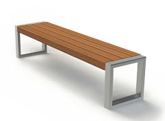 modern street benches without backrest