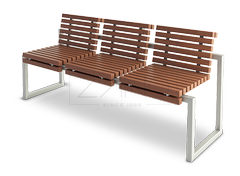 Classic park bench in retro style- perfect also for city streets and alleys