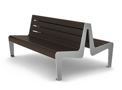 modern double sided benches
