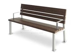 Stainelss steel Valencia bench with arms