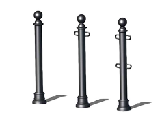 municipal, street bollard to use with chains