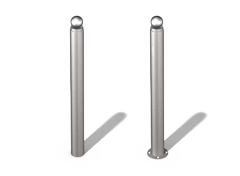 stainless steel bollards with decorative elements