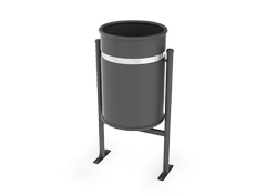 Metal litter bin for the modern city surroundings: streets, alleys and playgrounds