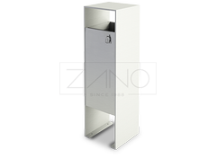 Elegant litter bin made of durable stainless steel