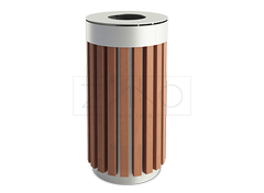 steel - wood litter bins