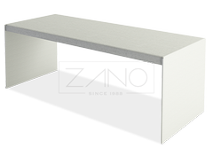 Stainless steel table with concrete table top