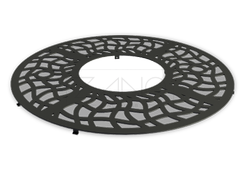 Tree grille is manufactured from durable cast iron